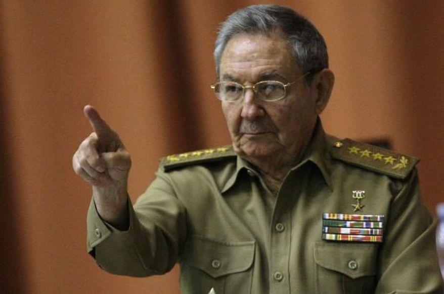** FILE ** Cuban President Raul Castro (Associated Press)