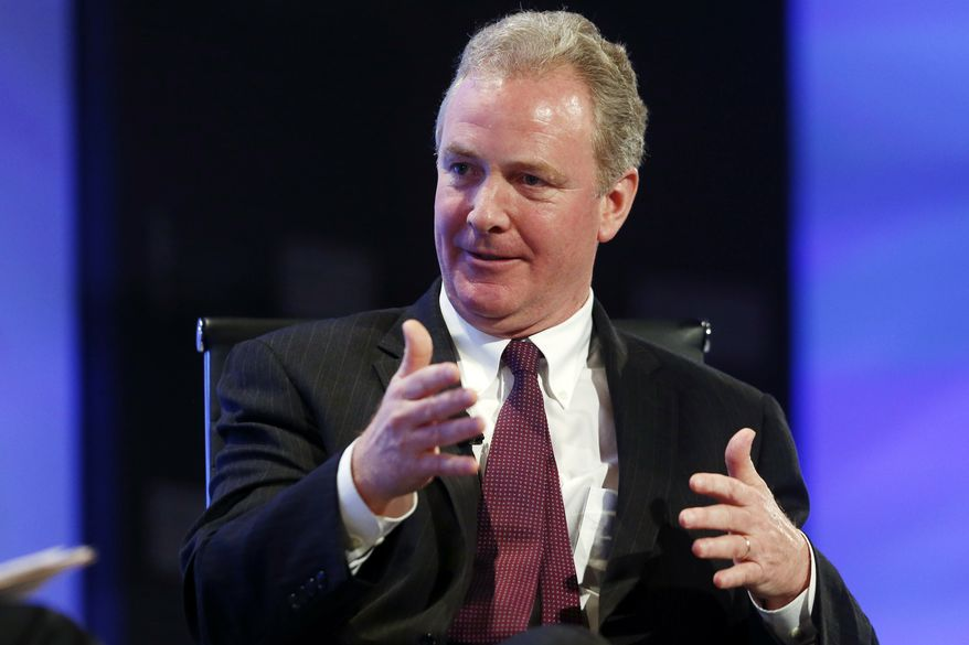 **FILE** Rep. Chris Van Hollen, Maryland Democrat and ranking member on the House Budget Committee, speaks about the budget at the 2013 Fiscal Summit in Washington on May 7, 2013. (Associated Press)