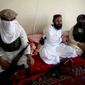 ** FILE ** Waliur Rehman (center), the Pakistani Taliban's No. 2 leader, talks with The Associated Press during an interview in Shawal area of South Waziristan along the Afghanistan border in Pakistan on July 28, 2011. (AP Photo/Ishtiaq Mahsud)