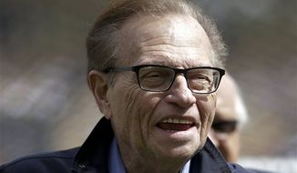 "Larry King will host a talk show, ""Politics with Larry King,"" beginning next month on the RT America network, a global, English-language channel based in Russia, the network announced Wednesday. (AP Photo/Jae C. Hong)"