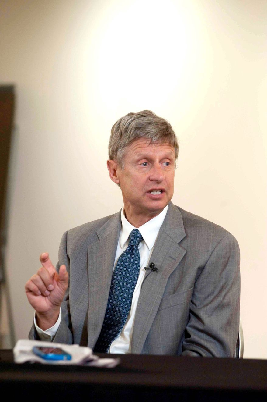 Former Libertarian presidential hopeful Gary Johnson has entered the gun rights arena in Colorado as chairman of Save Our Shotguns. (The Washington Times)