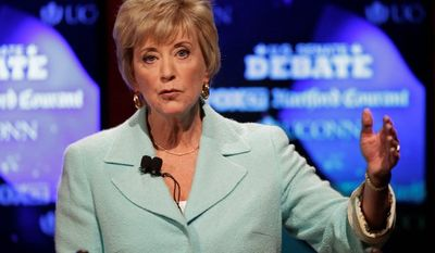 Linda McMahon, a pro wrestling executive, suffered her second straight defeat in a bid for Connecticut's Senate seats, plunging $8.4 million into the two runs. (Associated Press)