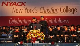 Rev. Dr. Thai Phuoc Truong, president of the Evangelical Church of Vietnam, addresses a graduating class at Nyack College, May 11, 2013.  (Image: nyack.edu)