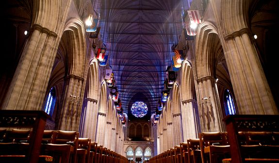 The Washington National Cathedral, Washington D.C., Sunday, August 6, 2012.  (Ryan M.L. Young/The Washington Times)