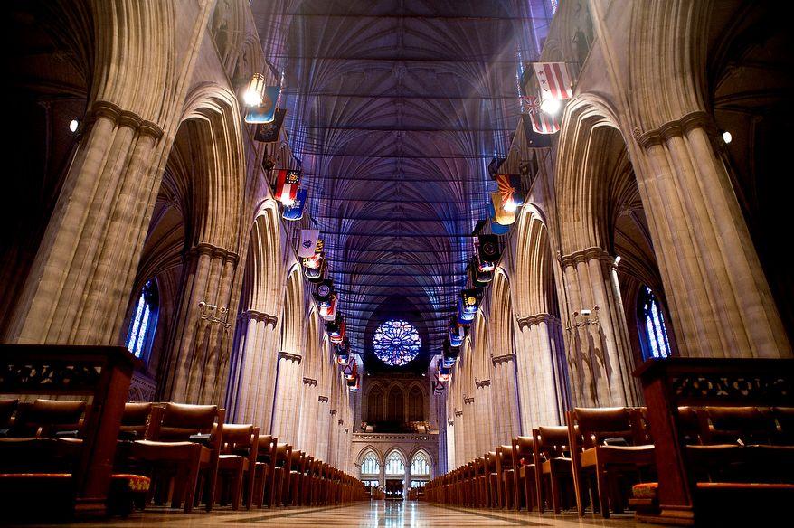 The Washington National Cathedral, Washington D.C., Sunday, August 6, 2012.  (Ryan M.L. Young/The Washington Times)