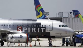 Beginning in June 2013, Spirit Airlines will start serving wine in cans, saying the cans are easier to store, and they weigh less than bottles. (AP Photo/Lynne Sladky, File)