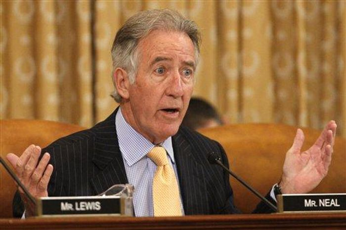 Rep. Richard Neal, D-Mass., asks a question during a House Ways and Means Committee hearing of organizations that say they were unfairly targeted by the Internal Revenue Service while seeking tax-exempt status, in Washington, on Tuesday, June 4, 2013. (AP Photo/Jacquelyn Martin) ** FILE **