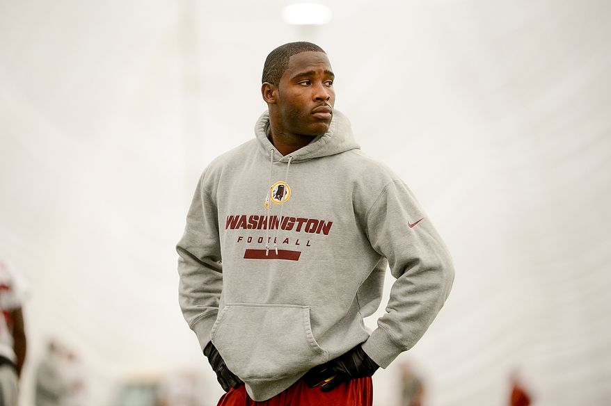 Washington Redskins wide receiver Pierre Garcon (88) during mini camp at Redskins Park, Ashburn, Md., Tuesday, June 11, 2013. (Andrew Harnik/The Washington Times)