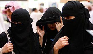 Saudi Arabian women. (Associated Press) ** FILE **