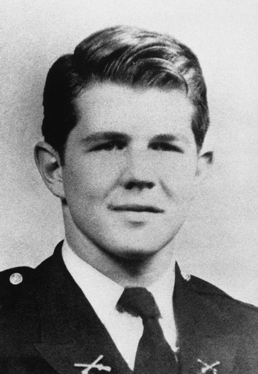 ** FILE** Televangelist Pat Robertson in his senior year at the McCallie School in Chattanooga, Tenn., 1946. (AP Photo)