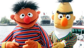 ** FILE ** Sesame Street's Bert and Ernie. (Associated Press)