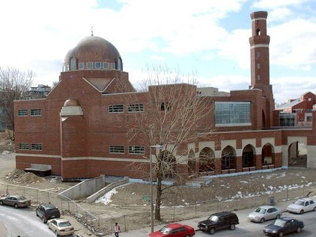 The Islamic Society of Boston Cultural Center is shown here when it was under construction in 2006. (Associated Press)