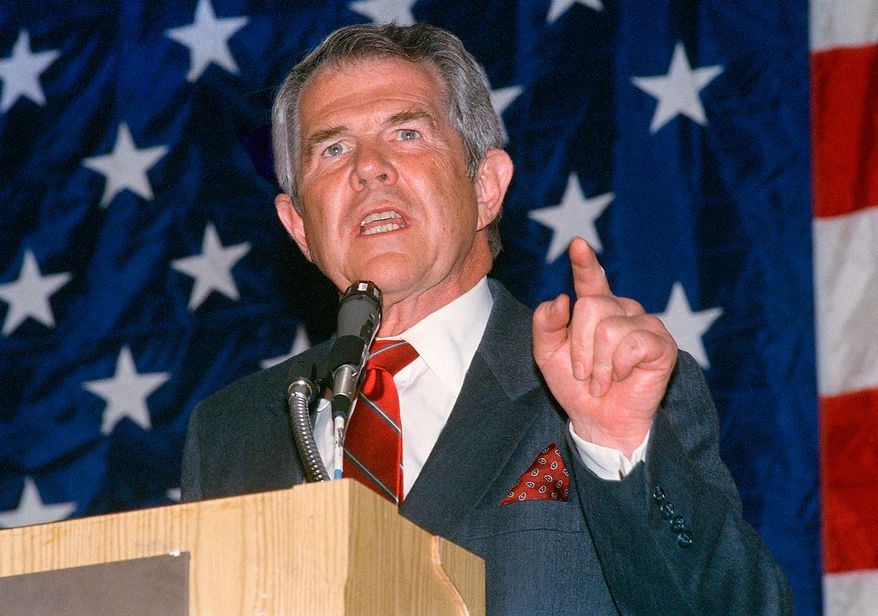 **FILE** Presidential candidate Pat Robertson was in Houston on Feb. 27, 1988, as part of the Conservative Action Conference in which he participated in a debate. He was the only major candidate to show up. Bush and Dole sent representatives and Libertarian Ron Paul was present. (Associated Press)