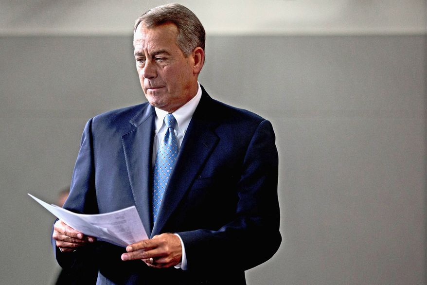 House Speaker John A. Boehner is bringing his chamber's agriculture bill to the floor. House and Senate versions end direct payments to farmers in favor of broader crop insurance programs. (Associated Press)