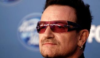 U2 lead singer Bono. (Associated Press)