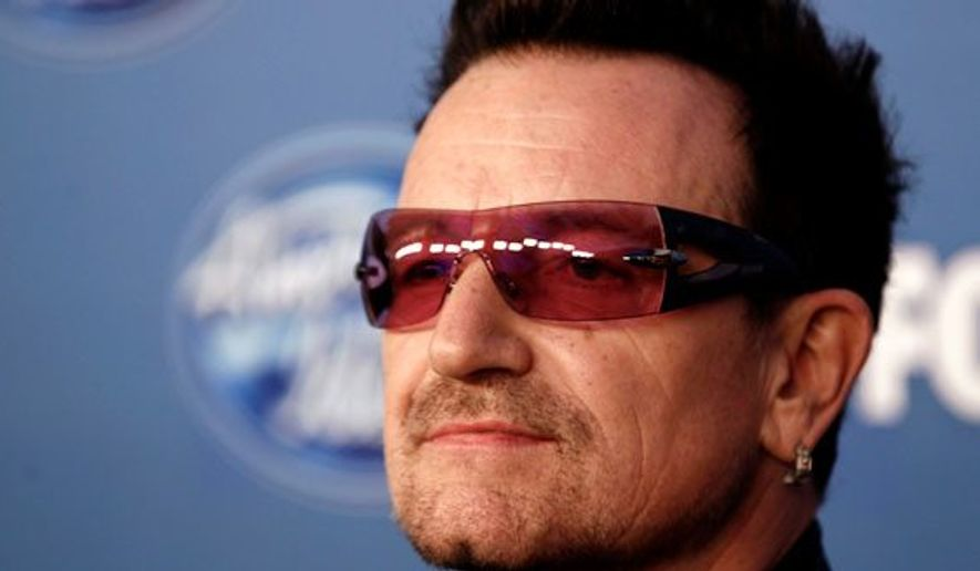 U2 lead singer Bono. (Associated Press)