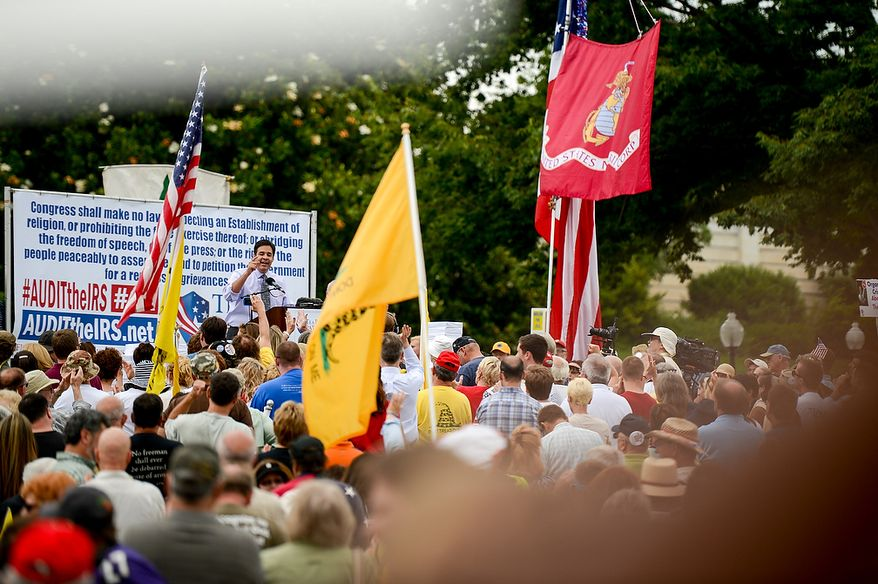 "Rep. Raul Labrador (R-Idaho) speaks at a tea party rally against the Internal Revenue Service entitled, ""Audit the IRS"" on the West Lawn of the U.S. Capitol Building, Washington, D.C., Wednesday, June 19, 2013. (Andrew Harnik/The Washington Times)"