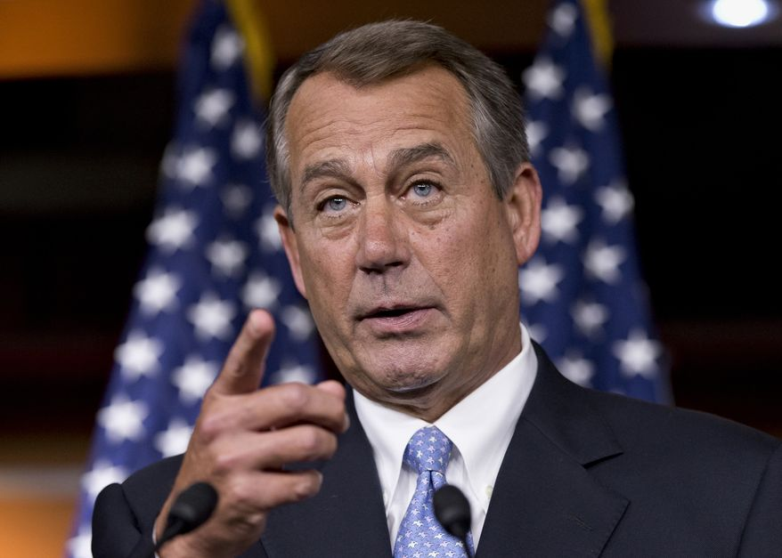 ** FILE ** House Speaker John A. Boehner, Ohio Republican. (Associated Press)