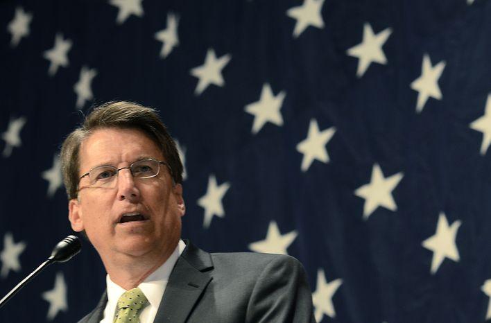 ** FILE ** North Carolina Gov. Pat McCrory. (AP Photo/The Charlotte Observer, John D. Simmons)