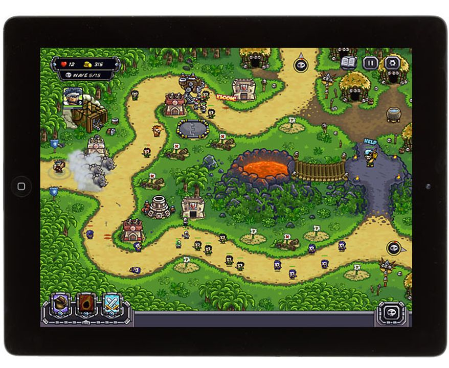 The tower defense game Kingdom Rush Frontiers HD is available for the iPad.