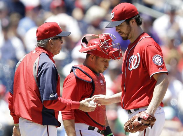 After the Nationals' 7-1 loss to the Colorado Rockies on Saturday, Dan Haren's 6.15 ERA is the highest among qualified starters in the major leagues. (Associated Press photo)