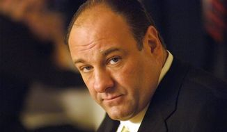 "**FILE** This undated publicity photo released by HBO shows actor James Gandolfini in his role as Tony Soprano, head of the New Jersey crime family portrayed in HBO's ""The Sopranos."" Gandolfini died June 19, 2013, in Italy. He was 51. (Associated Press/HBO)"