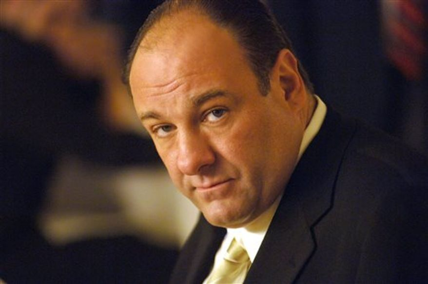 """**FILE** This undated publicity photo released by HBO shows actor James Gandolfini in his role as Tony Soprano, head of the New Jersey crime family portrayed in HBO's """"The Sopranos."""" Gandolfini died June 19, 2013, in Italy. He was 51. (Associated Press/HBO)"""