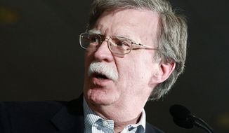 **FILE** Former United Nations Ambassador John R. Bolton (Associated Press)