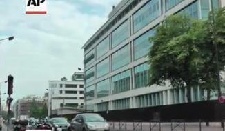 Paris, France. (Screen shot from AP video)