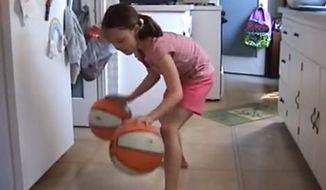 A video of a little girl's dribbling skills has amazed YouTube viewers. (YouTube)