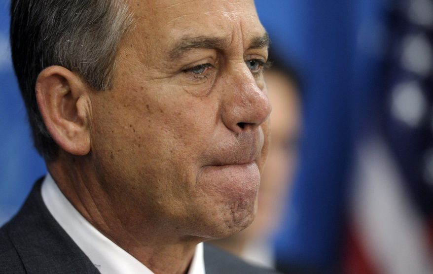 ** FILE ** House Speaker John A. Boehner, Ohio Republican (Associated Press)