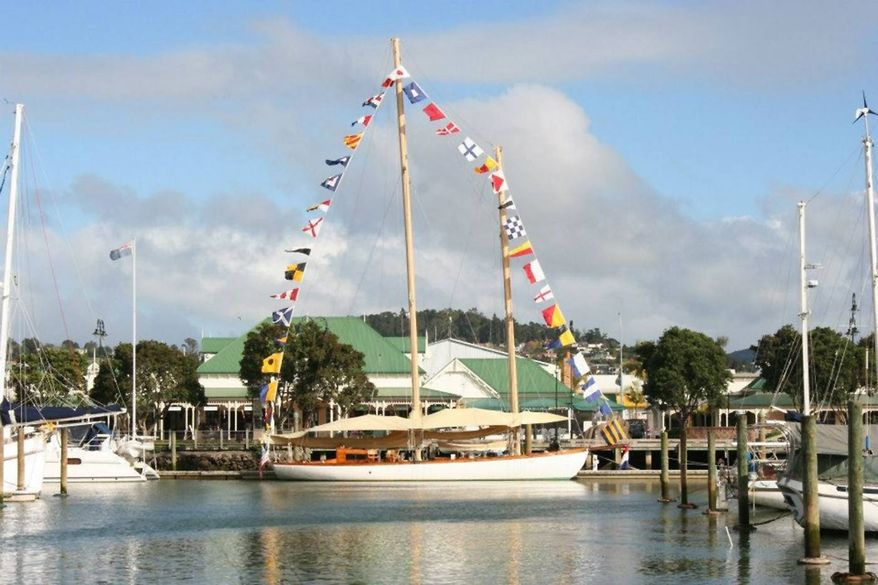 In this undated photo provided by Maritime New Zealand, the yacht Nina, center, is tied at dock at a unidentified location. Searchers said Thursday, June 27, 2013, they have grave concerns for seven people aboard the American schooner that has been missing for three weeks between New Zealand and Australia. (AP Photo/Maritime New Zealand)