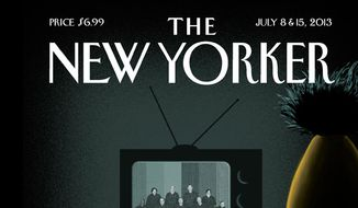 Sesame Street's Bert and Ernie are depicted on the cover of the July 8 issue of New Yorker magazine.  **FILE**