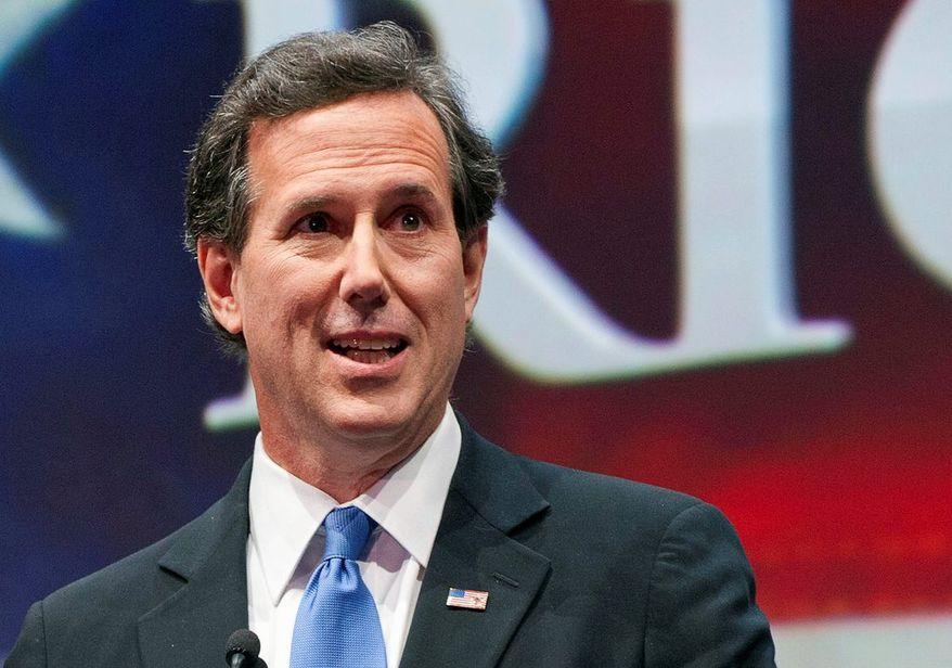 ** FILE ** Former Republican presidential candidate Rick Santorum. (Associated Press)