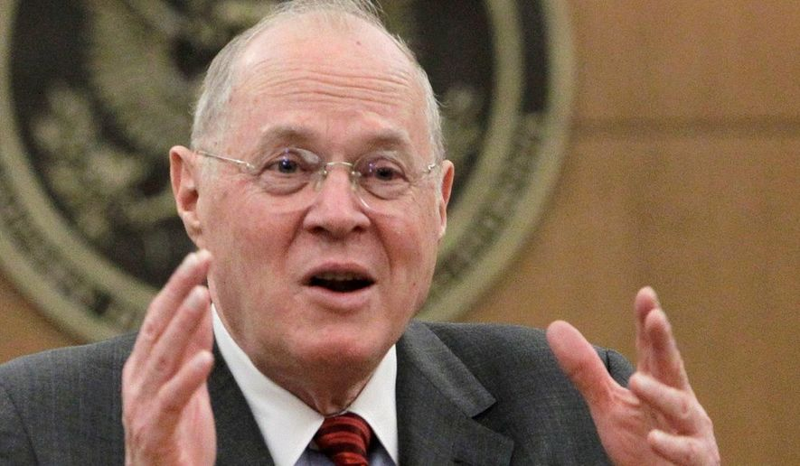 Supreme Court Justice Anthony M. Kennedy. (Associated Press) ** FILE **