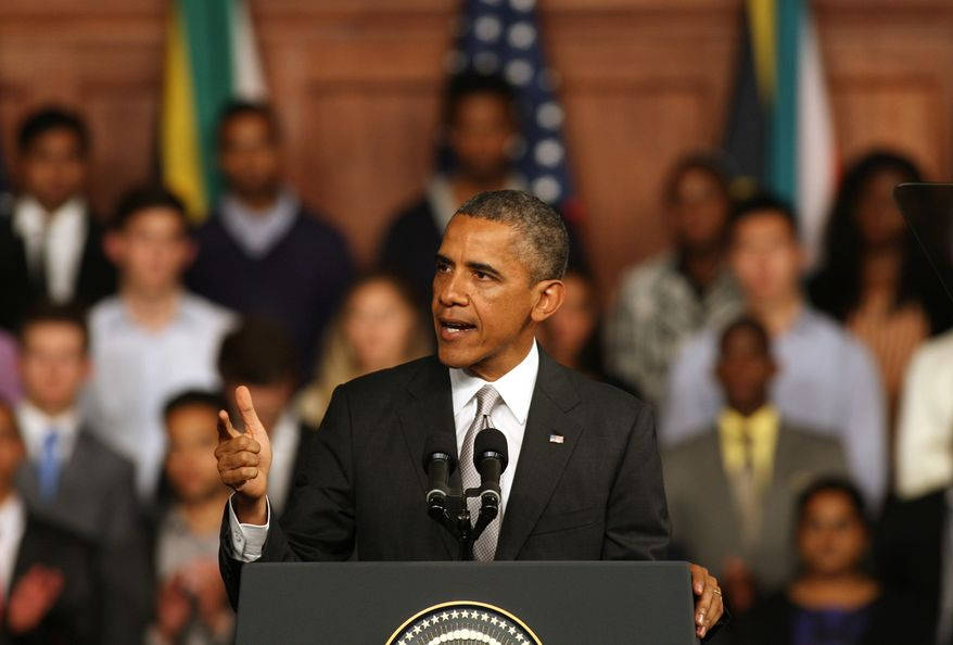 President Obama speaks at the University of Cape Town in South Africa on Sunday, June 30, 2013. (AP Photo)