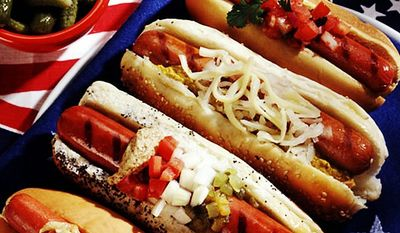 About 7 billion hot dogs will be devoured between Memorial Day and Labor Day according to the National Hot Dog & Sausage Council. (SHNS photo courtesy the National Hot Dog & Sausage Council) **FILE **