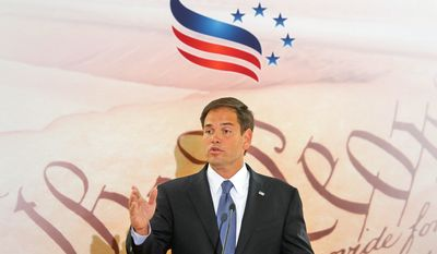 Susan B. Anthony List and other pro-life groups have been lobbying Sen. Marco Rubio, Florida Republican, for weeks to lead the charge in the Senate on legislation would ban abortions 20 weeks into pregnancy, with exceptions for risks to the mother's life and rape or incest, though such a bill is unlikely to be taken up in the chamber. (Associated Press)