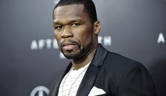 """**FILE** Rapper Curtis """"50 Cent"""" Jackson attends the """"After Earth"""" premiere at the Ziegfeld Theatre in New York on May 29, 2013. (Evan Agostini/Invision/Associated Press)"""