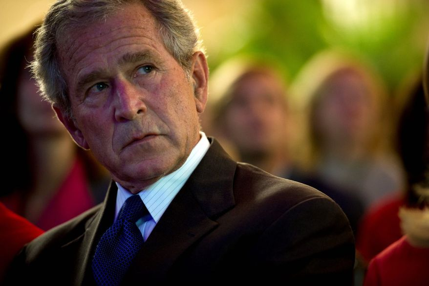 """Former President George W. Bush, enjoying a wave of good reviews, is hosting a forum titled """"What Immigrants Contribute"""" at his presidential center in Dallas. (The Washington Times)"""