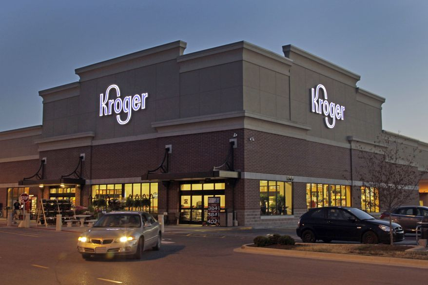 Kroger Co., the nation's largest traditional supermarket chain, said on Tuesday, July 9, 2013, that it is buying the regional grocer Harris Teeter Supermarkets Inc. This Kroger store is in Indianapolis. (AP Photo/Michael Conroy)