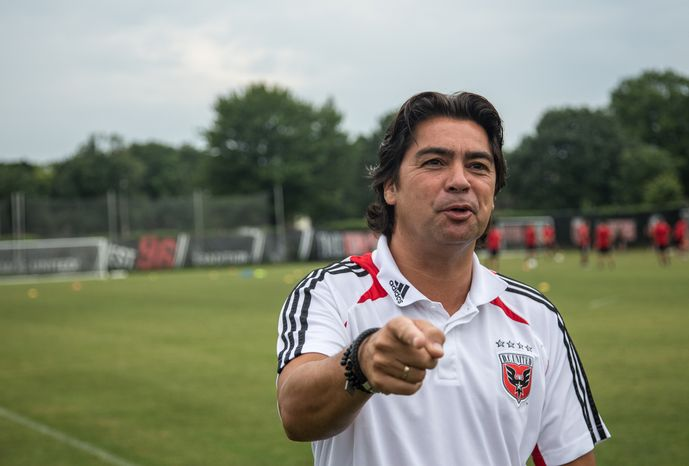 "Jan Jacobus ""Sonny"" Silooy, a former Dutch footballer and current Director of Youth Development for D.C. United Academy initiatives, poses for a photo during an academy league training session held at the auxiliary field near RFK Stadium, in Washington, DC., Thursday, July 10, 2013. (Andrew S Geraci/The Washington Times)"