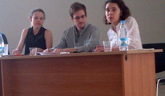 Picture of Edward Snowden tweeted by Tanya Lokshina of Human Rights Watch, Moscow