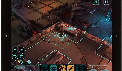Heavy weapons expert Bob Carroll is placed in position for an attack in the iPad game XCOM: Enemy Unknown.