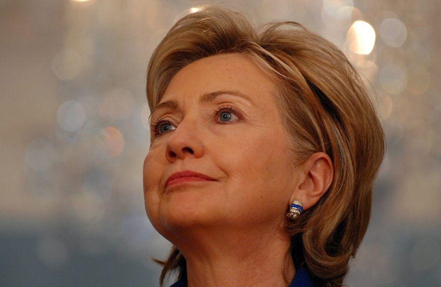 ** FILE ** Former Secretary of State Hillary Rodham Clinton. (The Washington Times)