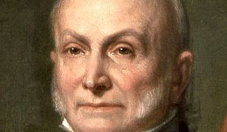 "Then-Secretary of State John Quincy Adams elaborated on Washington's admonition against objectless, gratuitous wars in his July 4, 1821 Address to Congress. He explained: ""[America's] glory is not dominion, but liberty. Her march is the march of the mind. She has a spear and a shield: but the motto upon her shield is, Freedom, Independence, Peace. This has been her Declaration: this has been, as far as her necessary intercourse with the rest of mankind would permit, her practice."""
