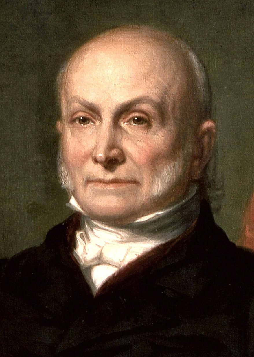 """Then-Secretary of State John Quincy Adams elaborated on Washington's admonition against objectless, gratuitous wars in his July 4, 1821 Address to Congress. He explained: """"[America's] glory is not dominion, but liberty. Her march is the march of the mind. She has a spear and a shield: but the motto upon her shield is, Freedom, Independence, Peace. This has been her Declaration: this has been, as far as her necessary intercourse with the rest of mankind would permit, her practice."""""""