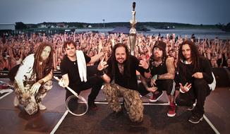 Rock band Korn (Screen shot from www.Korn.com)