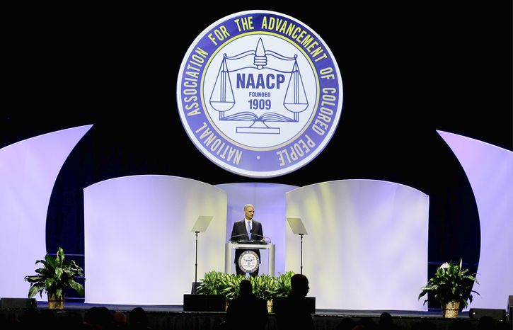 Attorney General Eric H. Holder Jr. delivers a speech Tuesday at the NAACP's annual convention in Orlando, Fla., during which he addressed the George Zimmerman trial. (Associated Press)