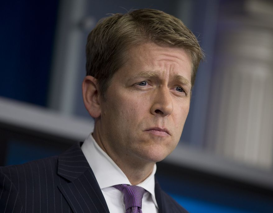 White House press secretary Jay Carney pauses during his daily briefing at the White House in Washington on Tuesday, July 16, 2013. (AP Photo/Carolyn Kaster)